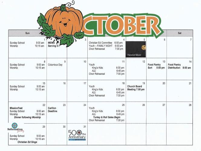 oct 17 calendar